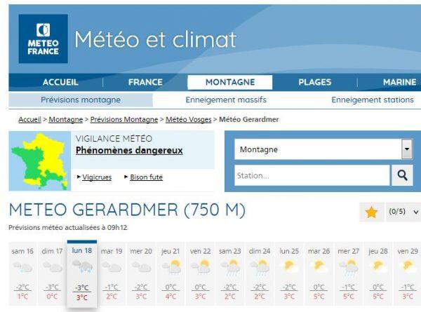 meteo Gerardmer