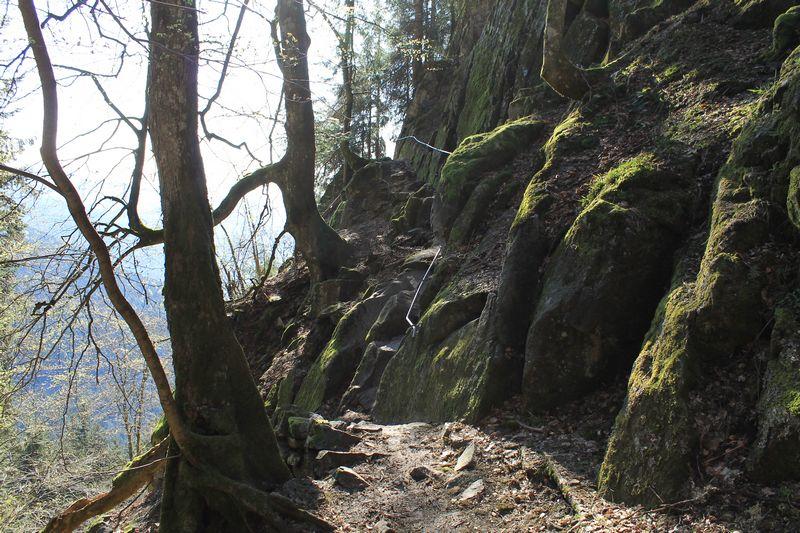 le sentier des roches depuis Le col de La Schlucht
